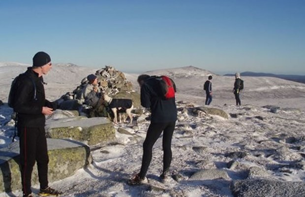 Sun and snow on a Clova Munro run