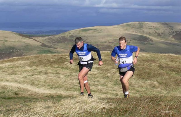 Phil and Will on Pentland skyline