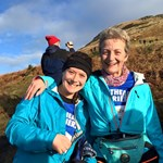 Ruth and Rhian after an epic Devils' Burdens Leg 2