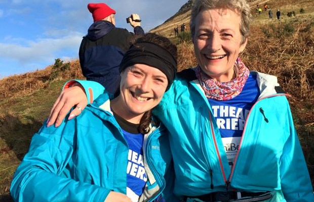 Ruth and Rhian after an epic Devil's Burdens Leg 2